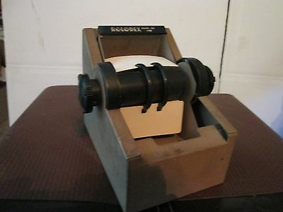 Vintage Rotary Metal Rolodex Card File model 1753 USED normal wear small card