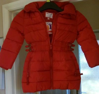 M&S Girls Padded Coat for Age 5-6 YRS Red Colour BNWT