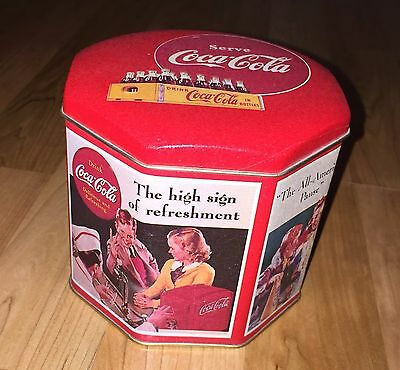 Coca-Cola The All American Pause- High Sign of Refreshment Octagon Tin- 1993