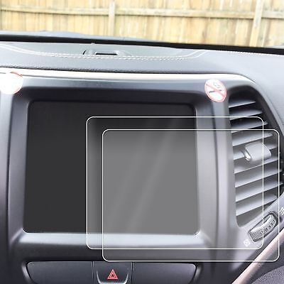 2) 2014-18 Jeep Cherokee 2pc Anti Scratch Touch Screen Savers Protector Clear