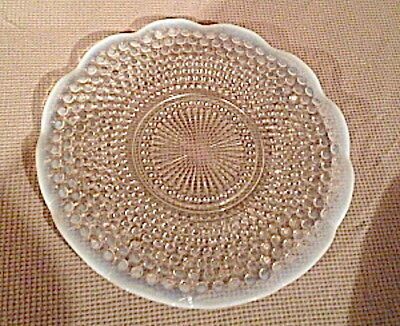Vintage Anchor Hocking Moonstone Opalescent Glass Ruffled Sandwich Plate