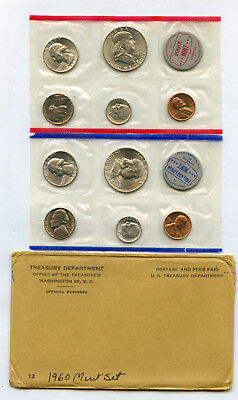 1960 Uncirculated US Mint Set In Original Mint Issued Holders As Shown