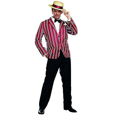 Good Time Charlie Boater Suit Great Gatsby 1920's Flapper Fancy Dress Costume