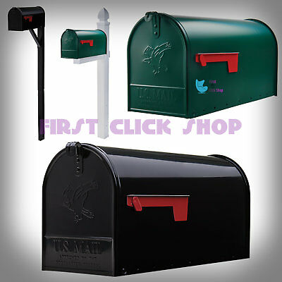 Large Rural Mailbox Oversize Street Roadside Post Big Postal Mail Green Or Black