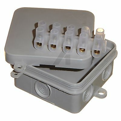 8 x cable connection box + 15a connectors  65 x 65 x 30mm weatherproof IP44