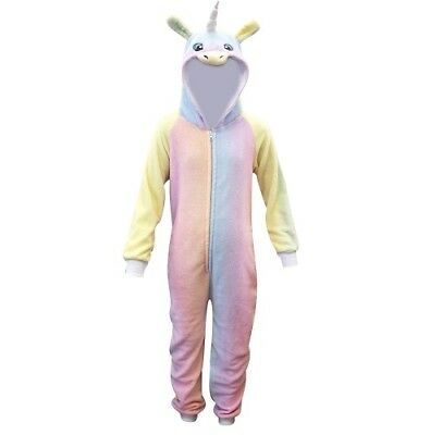 New Girls Unicorn Onesie Rainbow Outfit Fleece Fancy Dress Age 7 8 9 10 11 12 13
