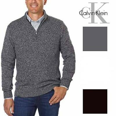 New Calvin Klein Mens Quarter Zip Long Sleeve Knit Sweater*SIZE & COLOR VARIETY*