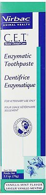 CET Enzymatic Dental Toothpaste for Dogs, Cats, Pets Vanilla-Mint Flavor, 2.5 oz