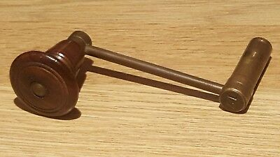 Antique Longcase Clock Crank Key No 17 (6 mm Square, 5 mm Shaft)