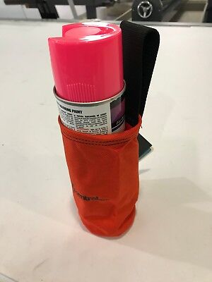 SECO 8098-00-ORG spray can holder with belt strap. Made of heavy duty nylon