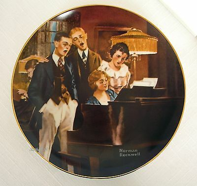 """""""close Harmony""""~Knowles Ltd Ed~Norman Rockwell Collector Plate 1984~Mint Cond"""
