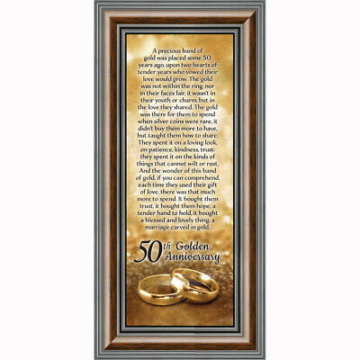 **NEW** Bands of Gold, 50th Wedding Anniversary Gift, Picture Frame, 6x12 7318