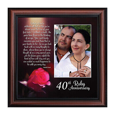 New Ruby Anniversary 40th Wedding Anniversary Gift Picture Frame