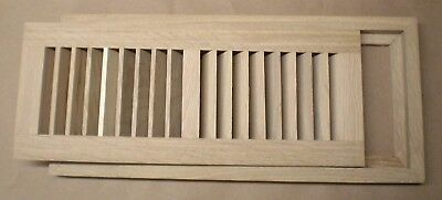 Quartered White Oak Wood Cold Air Return Register Vent for a 4 x 12 Duct Opening