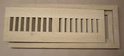 Quartered White Oak Wood Cold Air Return Register Vent for a 2 x 10 Duct Opening