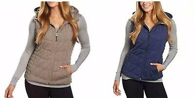 NEW Be by Blanc Noir Women's Breathable Quilted Knit Hooded Vest VARIETY