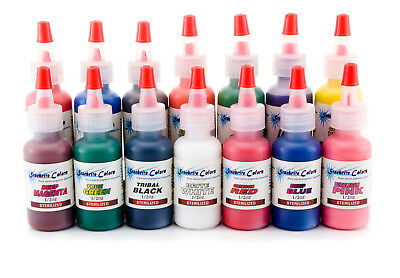 "Tätowierfarbe "" Starbrite "" 7x 15ml Tattoo Farbe Tinte Color Tattoofarbe"