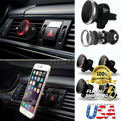 360 Degree Magnetic Car Dash Mount Holder Stand Fits Cell Phone iPhone &Galaxy