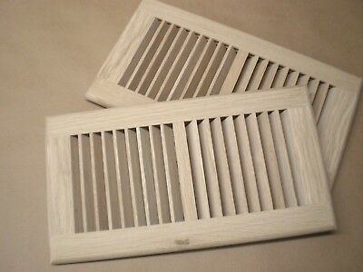 """White Oak Wood Cold Air Return Register Vent Cover for 6"""" W x 12"""" L Duct Opening"""
