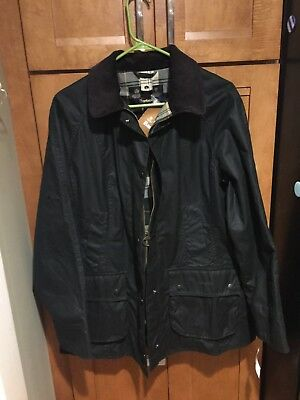 NWT $299 BARBOUR BEDALE Wax Cotton Jacket Waterproof Tartan Lined Coat Men 44 L