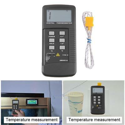 LCD Digital K-Type Single Channel Thermocouple Thermometer Temperature Meter