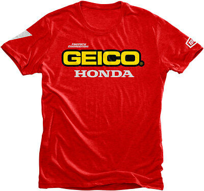 100% GEICO Honda Officially Licensed STANDARD T-Shirt (Red) Choose Size