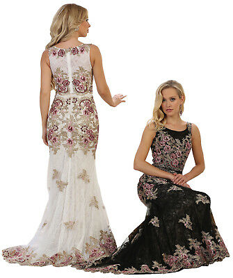 cb7d7d14c7 Sale ! Sleeveless Prom Evening Formal Dresses Special Occasion Long Fitted  Gowns