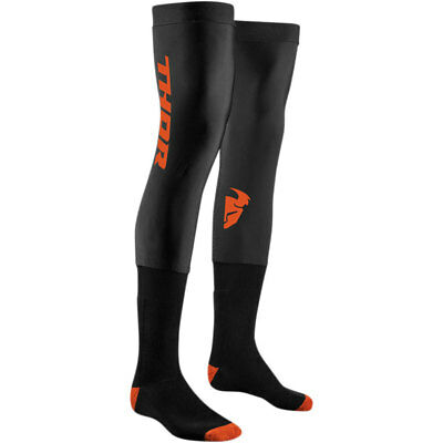 THOR MX Motocross Men's 2018 COMP Full Length Knee Brace Socks (Black)