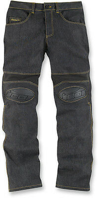 ICON OVERLORD Motorcycle Riding Pants/Jeans (Denim Blue) Choose Size