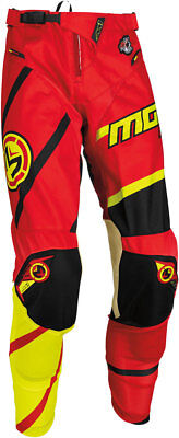 MOOSE Racing MX Motocross Men's 2017 M1 Pants (Red/Hi-Viz Yellow) Choose Size