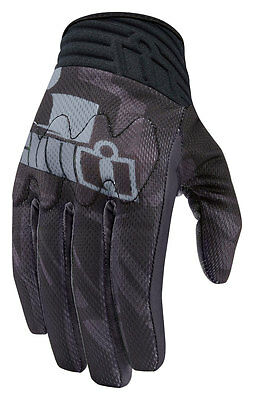ICON Anthem PRIMARY Textile/Leather Touchscreen Riding Gloves (Blk) Choose Size