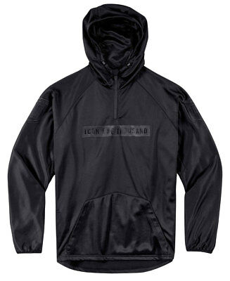ICON 1000 SHOCKRA Polyester Hoody (Black) Choose Size