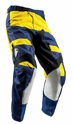 THOR MX Motocross Men's 2018 PULSE LEVEL Pants (Navy/Yellow) Choose Size