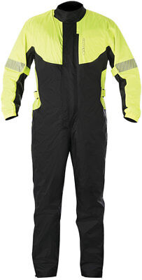 Alpinestars HURRICANE 1-PC Waterproof Rain Suit (Flo Yllw/Black) Choose Size