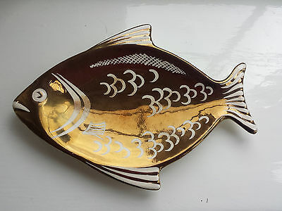 Grays Lustre ware trinket dish in the shape of a fish