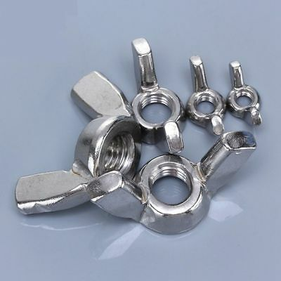 G316 A4 Marine Grade Stainless Steel M3 to M12 Metric Coarse Butterfly Wing Nuts