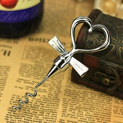 Love Heart Shaped Wine Corkscrew Creative Metal Bottle Opener Wedding Decor