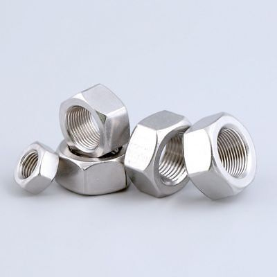 Hex Full / Standard Metric Coarse Nuts M2 to M24 A4 Marine G316 Stainless Steel