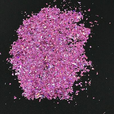 Purple Tiny Glitter Flakes Holographic Pieces Lilac Solvent Resistant Nail Art