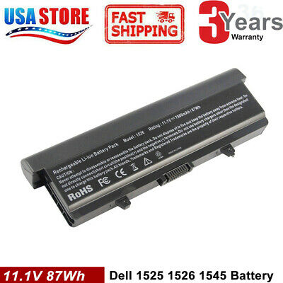 Battery for Dell Inspiron 1525 1526 1440 1545 1546 1750 GW240 X284G Power