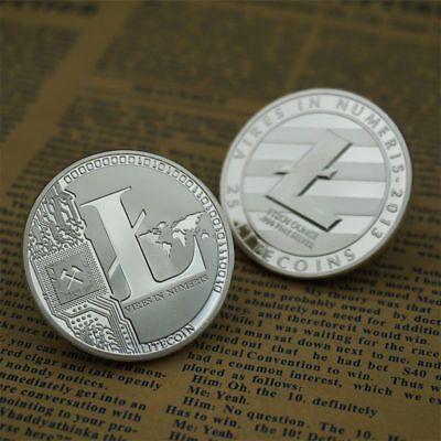 Litecoin Silver Plated Physical Bitcoin in protective acrylic case FAST SHIPPING