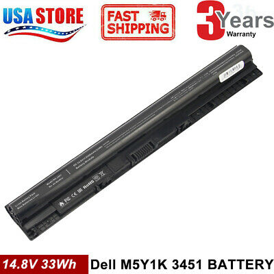 New 14.8V  Replace M5Y1K Battery for Dell Inspiron-3451-3551-3458-3558