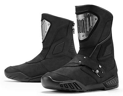 ICON 1000 RETROGRADE CE Certified Leather Motorcycle Boots (Black) Choose Size