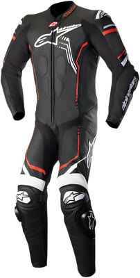Alpinestars GP PLUS v2 1-Piece Leather Riding Suit (Black/White/Fluo Red)