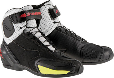 ALPINESTARS SP-1 VENTED Road/Street Riding Shoes (Blk/Wht/Red/Yllw) Choose Size