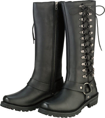 Z1R Women's SAVAGE Leather Motorcycle Riding Boots Choose Size