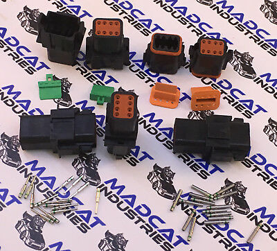Deutsch BLACK DT Auto connector plug 5x 8 pin, Solid terminal pins Suit 14AWG