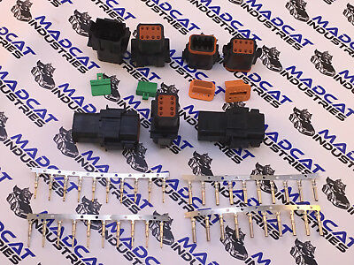 Deutsch BLACK DT connector plug 5x 8pin, Stamped & Formed Terminal Pins 14-18AWG