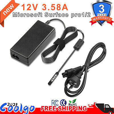 For Surface Pro 1 / 2/ RT Power Adapter Charger 43W 12V 3.6A Model 1536