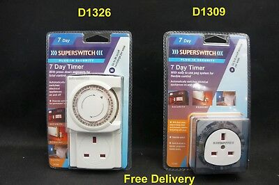 Superswitch 7 Day Programmable Timer Wall Security Light Switch Inc